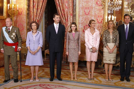 El pasado 12 de octubre, última imagen de toda la Familia Real al completo. | Alberto R. Roldán