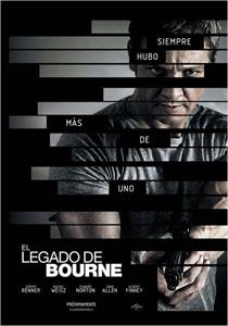 Cartel de 'El legado de Bourne '